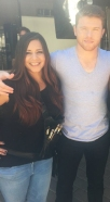 Erika on HBO set with world champion boxer Canelo Alvarez