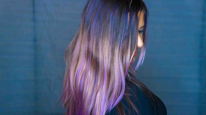 Purple Ombre Hair Carlsbad Chakra Beauty Salon